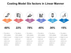 Costing Model Six Factors In Linear Manner Ppt PowerPoint Presentation Infographics Inspiration PDF