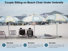Couple Sitting On Beach Chair Under Umbrella Ppt PowerPoint Presentation Pictures Clipart Images