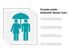 Couple Under Umbrella Vector Icon Ppt PowerPoint Presentation Icon Rules