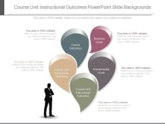 Course Unit Instructional Outcomes Powerpoint Slide Backgrounds