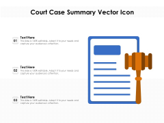 Court Case Summary Vector Icon Ppt PowerPoint Presentation File Graphic Tips PDF