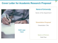 Cover Letter For Academic Research Proposal Department Ppt PowerPoint Presentation Slides Information