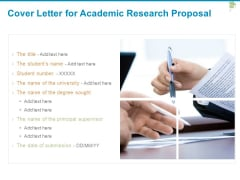 Cover Letter For Academic Research Proposal Ppt PowerPoint Presentation File Smartart