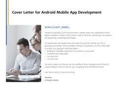 Cover Letter For Android Mobile App Development Ppt PowerPoint Presentation Model Slide