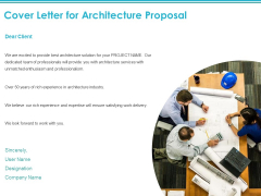 Cover Letter For Architecture Proposal Ppt PowerPoint Presentation Deck