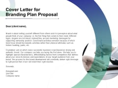Cover Letter For Branding Plan Proposal Ppt Professional Outfit PDF
