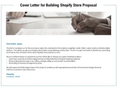 Cover Letter For Building Shopify Store Proposal Ppt PowerPoint Presentation Layouts Good