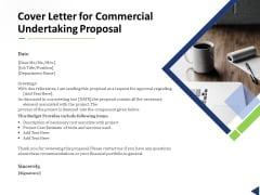 Cover Letter For Commercial Undertaking Proposal Ppt Infographic Template Inspiration PDF