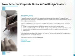 Cover Letter For Corporate Business Card Design Services Brochure PDF