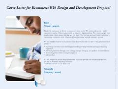 Cover Letter For Ecommerce Web Design And Development Proposal Ppt Slides Sample PDF