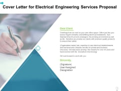 Cover Letter For Electrical Engineering Services Proposal Ppt Layouts Aids PDF