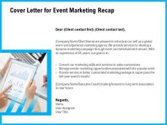 Cover Letter For Event Marketing Recap Ppt Model Skills PDF
