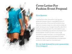 Cover Letter For Fashion Event Proposal Ppt PowerPoint Presentation Professional Demonstration