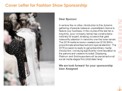 Cover Letter For Fashion Show Sponsorship Ppt PowerPoint Presentation Professional Master Slide