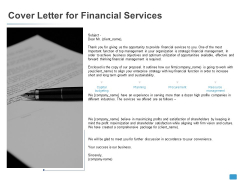 Cover Letter For Financial Services Agenda Ppt PowerPoint Presentation Infographic Template Clipart