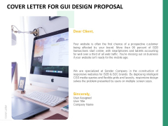 Cover Letter For GUI Design Proposal Ppt PowerPoint Presentation Infographic Template Good PDF