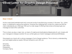 Cover Letter For Graphic Design Proposal Ppt PowerPoint Presentation Infographics Background Images