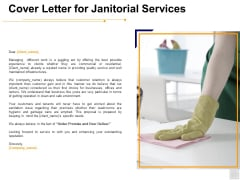 Cover Letter For Janitorial Services Ppt PowerPoint Presentation Outline Example