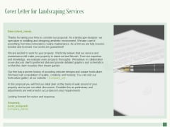 Cover Letter For Landscaping Services Ppt PowerPoint Presentation Show Outline