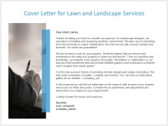 Cover Letter For Lawn And Landscape Services Ppt PowerPoint Presentation Slides Rules
