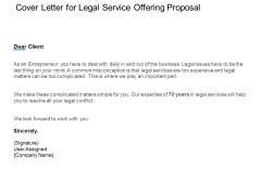 Cover Letter For Legal Service Offering Proposal Ppt PowerPoint Presentation Inspiration Graphic Images