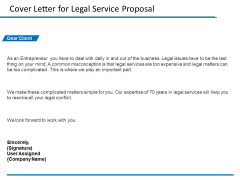 Cover Letter For Legal Service Proposal Ppt PowerPoint Presentation File Background Designs