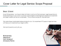 Cover Letter For Legal Service Scope Proposal Ppt PowerPoint Presentation Gallery Graphics Pictures