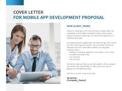 Cover Letter For Mobile App Development Proposal Ppt PowerPoint Presentation File Brochure