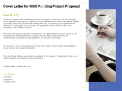 Cover Letter For NGO Funding Project Proposal Ppt PowerPoint Presentation Styles Grid