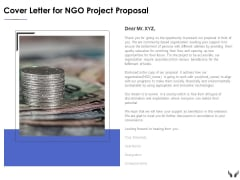 Cover Letter For Ngo Project Proposal Ppt Powerpoint Presentation Summary Influencers