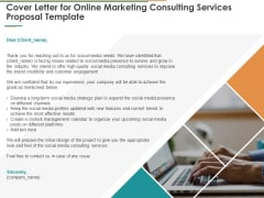 Cover Letter For Online Marketing Consulting Services Proposal Template Ppt Icon Graphics Example PDF