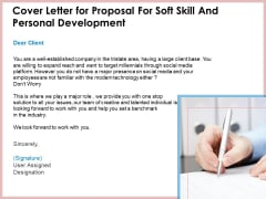 Cover Letter For Proposal For Soft Skill And Personal Development Ppt Rules PDF