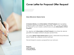 Cover Letter For Proposal Offer Request Ppt Powerpoint Presentation Infographic Template Guidelines