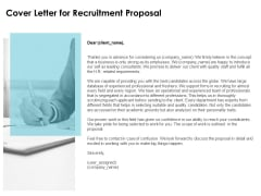 cover letter for recruitment proposal ppt powerpoint presentation infographics example introduction