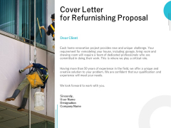 Cover Letter For Refurnishing Proposal Ppt PowerPoint Presentation Slides Professional