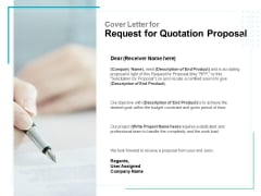 Cover Letter For Request For Quotation Proposal Ppt PowerPoint Presentation Outline Graphics Pictures
