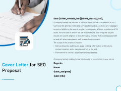 Cover Letter For SEO Proposal Ppt Summary Themes PDF
