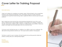 Cover Letter For Training Proposal Ppt PowerPoint Presentation Outline Diagrams