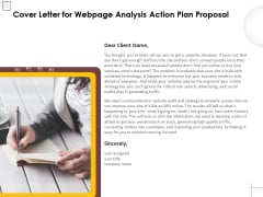 Cover Letter For Webpage Analysis Action Plan Proposal Ppt PowerPoint Presentation Summary Topics PDF