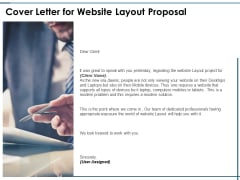 Cover Letter For Website Layout Proposal Ppt PowerPoint Presentation Show Example Introduction