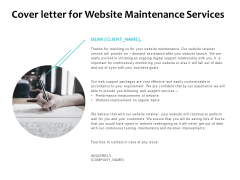 Cover Letter For Website Maintenance Services Ppt PowerPoint Presentation Icon Gridlines