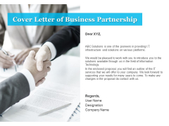 Cover Letter Of Business Partnership Ppt PowerPoint Presentation Inspiration File Formats