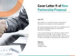 Cover Letter Of New Partnership Proposal Ppt PowerPoint Presentation Styles Slide