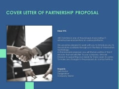 Cover Letter Of Partnership Proposal Ppt PowerPoint Presentation Model Diagrams