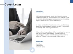 Cover Letter Ppt PowerPoint Presentation Visual Aids Example File