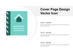 Cover Page Design Vector Icon Ppt PowerPoint Presentation Summary Example