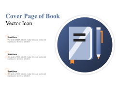 Cover Page Of Book Vector Icon Ppt PowerPoint Presentation Professional Templates