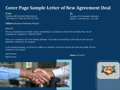 Cover Page Sample Letter Of New Agreement Deal Ppt PowerPoint Presentation Slides Good PDF