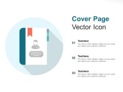 Cover Page Vector Icon Ppt PowerPoint Presentation Outline Graphic Tips