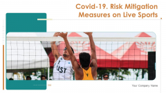 Covid 19 Risk Mitigation Measures On Live Sports Ppt PowerPoint Presentation Complete Deck With Slides